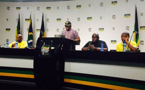 Sacso, YCL and ANCYL leaders at Luthuli house to speak on the way forward after #FeesMustFall campaign. Picture: Dineo Bendile/EWN.