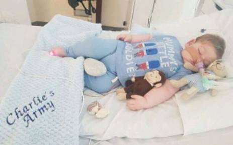 Charlie Gard has a rare genetic condition causing progressive muscle weakness and brain damage. Picture: Instagram/@charliesfight