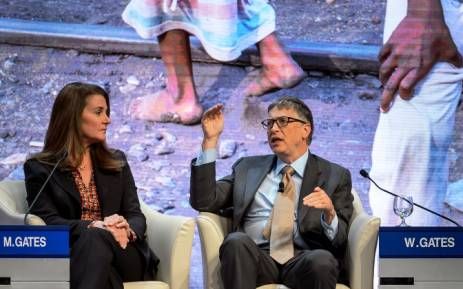 FILE: Melinda and Bill Gates. Picture: AFP.