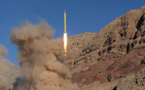 A long-range Qadr ballistic missile is launched in the Alborz mountain range in northern Iran on 9 March, 2016. Iran said its armed forces had fired two more ballistic missiles as it continued tests in defiance of US warnings. Picture: AFP.