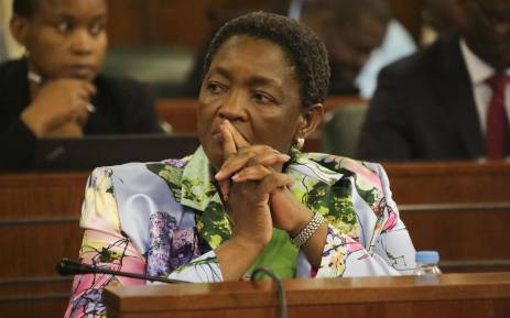 Social Development Minister Bathabile Dlamini appeared before Parliament's Standing Commitee on Public Accounts (Scopa) to discuss the contract to pay social grants. Picture: Cindy Archillies/EWN