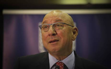 Trevor Manuel delivered the keynote address at the Archbishop Thabo Makgoba Trust Public Lecture hosted by the University of the Western Cape on 16 May 2018. Picture: Cindy Archillies/EWN