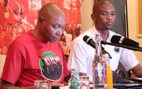 FILE: Nehawu's general secretary Bereng Soke briefs media in Johannesburg on their planned national march. Picture: Facebook.com.
