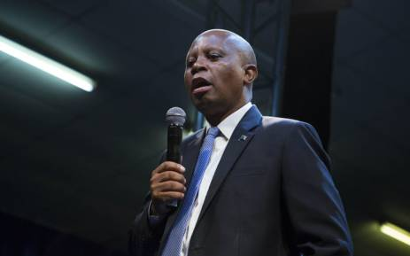 Johannesburg Mayor Herman Mashaba is seen at a hall in Alexandra during a DA event. Picture: Ihsaan Haffejee/EWN