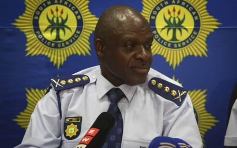 Police Commissioner Khehla Sitole addresses the media at a briefing in Cape Town. Picture: Cindy Archillies/EWN