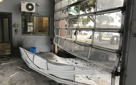 The Gugulethu Fire Station after being torched by protesters on 12 July 2018. Picture: Lauren Isaacs/EWN