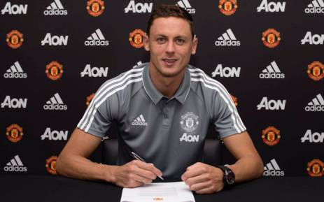 Manchester United have signed Serbia midfielder Nemanja Matic from Premier League champions Chelsea on a three-year contract. Picture: @ManUtd/Twitter