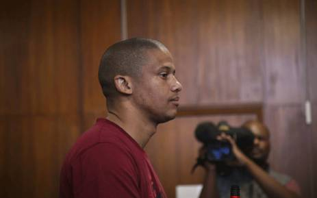 Mortimer Saunders is seen in the Goodwood Magistrates Court on 17 May 2017, after the body of three-year-old Courtney Pieters was found in a shallow grave. Picture: Cindy Archillies/EWN.