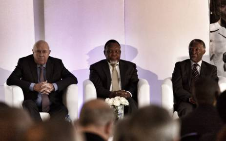 Former statesmen Thabo Mbeki, FW de Klerk and Kgalema Motlanthe attend the National Foundations Dialogue Initiative. Picture: Christa Eybers/EWN