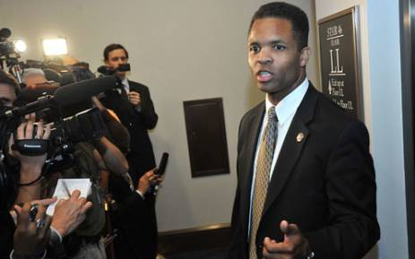 This August 1, 2011 file photo shows US Rep. Jesse Jackson Jr speaking to reporters following a Democratic Caucus at the US Capitol in Washington. Picture: AFP