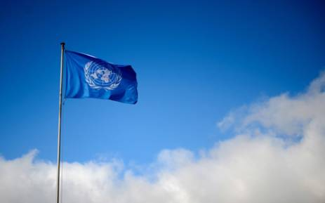 FILE: A flag of the United Nations floats at their Genevaâ's offices. Picture: AFP.