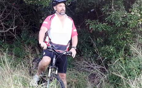 Wayne Bolton is cycling to raise funds for anti-rhino poaching initiatives. Picture: oneland.co.za