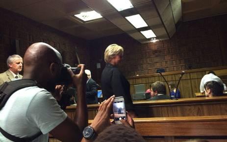 DA MP Glynnis Breytenbach was granted bail of R10,000 in the Pretoria Regional Court on 15 February 2016. Picture: Barry Bateman/EWN.