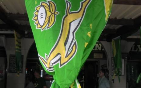 A Springbok flag at a pub in Sunninghill during the rugby championship game between South Africa and New Zealand on 14 September 2013. Picture: Reinart Toerien/EWN