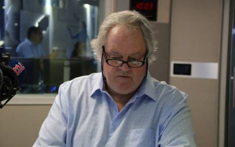 Author of 'The President's Keepers' Jacques Pauw in studio with Radio 702 host Eusebius McKaiser. Picture: Radio 702.