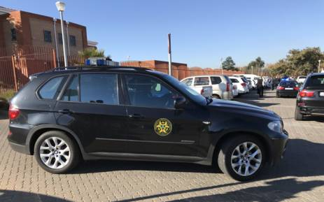 The Presidential Protection Unit vehicles at the Randburg Magistrate's Court on 12 July 2018. Picture: Barry Bateman/EWN.