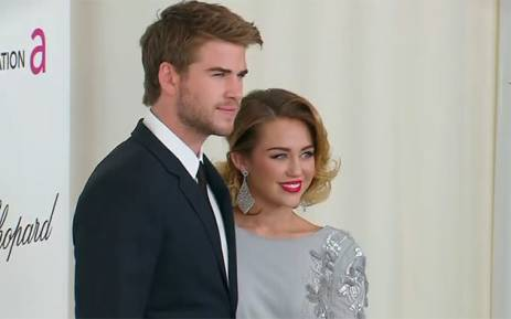 FILE: Miley Cyrus and Liam Hemsworth. Picture: Screengrab/CNN