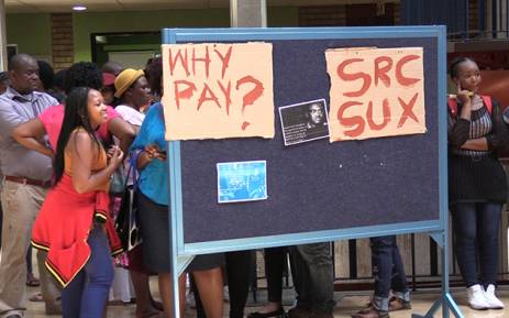 FILE: Wits University students began their #FeesMustFall campaign in January and managed to shut down registration for two days. Picture: Vumani Mkhize/EWN.