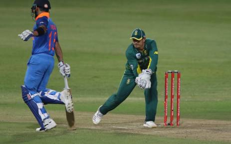 Proteas wicketkeeper Quinton de Kock has been ruled out of the ODI Series with a wrist injury. Picture: Twitter/@OfficialCSA