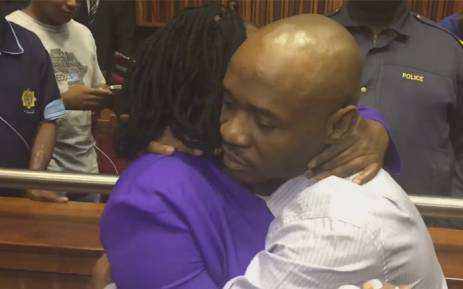 Former Jozi FM DJ Donald Sebolai comforted by family after he was sentenced to 20 years in prison for the murder of his girlfriend Dolly Tshabalala. Picture: EWN.