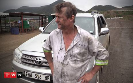 Lily Mine manager Mike Begg. Picture: Kgothatso Mogale/EWN.