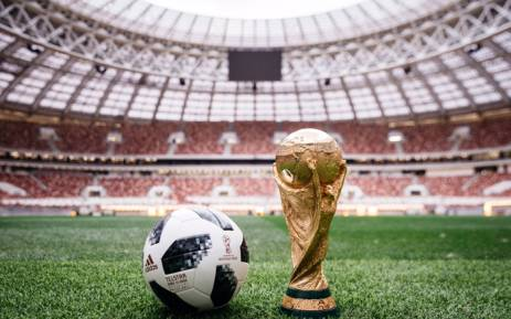 The Telstar 18 soccer ball was first used in the 1970 World Cup and will make its first appearance since the 1974 tournament in Germany. Picture: Twitter/@adidasfootball