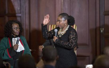 FILE: Newly appointed Minister of Communications Ayanda Dlodlo takes her oath during the swearing in ceremony in Pretoria on 31 March 2017. Picture: Reinart Toerien/EWN.