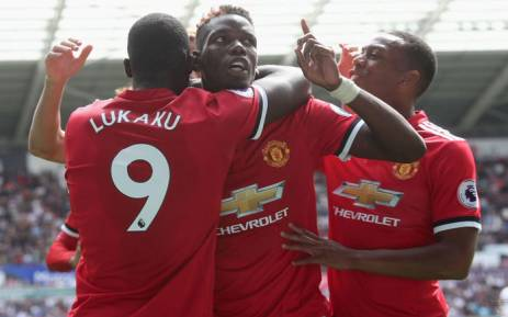 FILE Manchester United players celebrate a goal during a match against Swansea on 19 August 2017