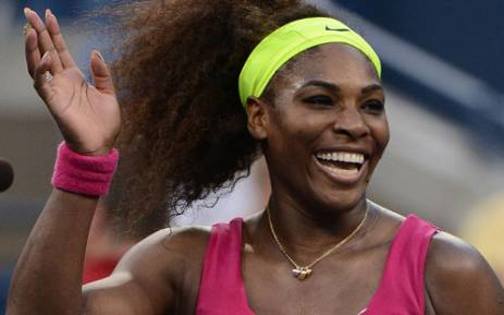 US Serena Williams celebrates defeating Italy's Sara Errani the 2012 US Open women's singles semifinals. Picture: AFP