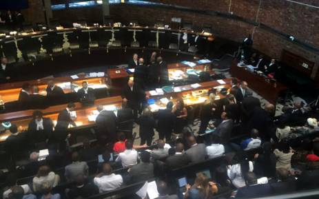 Advocates getting ready & taking their places in the Constitutional Court ahead of a hearing over the Nkandla debacle. Picture: Gia Nicolaides/EWN.