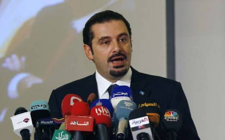 FILE Former Lebanese Prime Minister Saad al Hariri gives a speech during the opening ceremony of the second