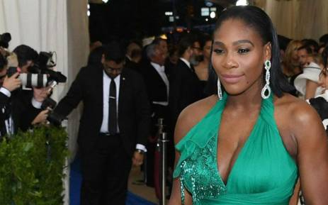 FILE: Tennis star Serena Williams at the Costume Institute Benefit on 1 May 2017 at the Metropolitan Museum of Art in New York. Picture: AFP.