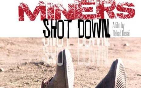 Poster for the multi-award winning documentary, 'Miners Shot Down'. Picture: Facebook