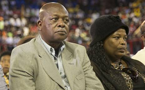Father of slain Bafana Bafana captain Senzo Meyiwa, Sam Meyiwa, at Johannesburgs Standard Bank arena on 30 October 2014 for a combined memorial service for former Bafana Bafana captain Senzo Meyiwa, boxer Phindile Mwelase and former world 800 metre champion Mbulaeni Mulaudzi. Picture: Reinart Toerien/EWN