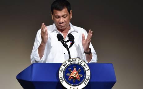 FILE: Philippines' President Rodrigo Duterte. Picture: AFP