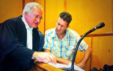 Johannes de Jager in court on 25 February 2014. De Jager has denied murdering 16-year-old Charmaine Mare but has admitted to dismembering her in Kraaifontein in 2013. Picture: Graeme Raubenheimer/EWN.