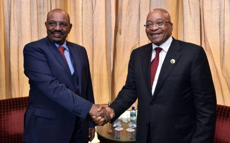 FILE: President Jacob Zuma meet with President Omer Al-Bashir of the Republic of the Sudan to discuss strengthening relations between South Africa and Sudan. Picture: GCIS.