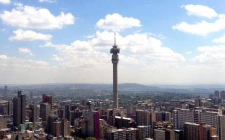 The Hillbrow Tower as photographed from Ponte Tower in Johannesburg. Picture: Ryan Wynn.