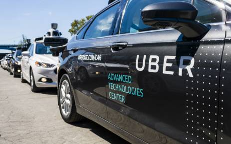 FILE: Pilot models of the Uber self-driving car is displayed at the Uber Advanced Technologies Center in Pittsburgh, Pennsylvania. Picture: AFP.