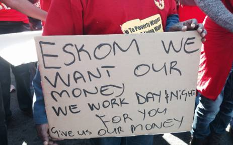 Eskom Strike Members Of The National Union Of Metalworkers Of South Africa Numsa Picket At Megawatt