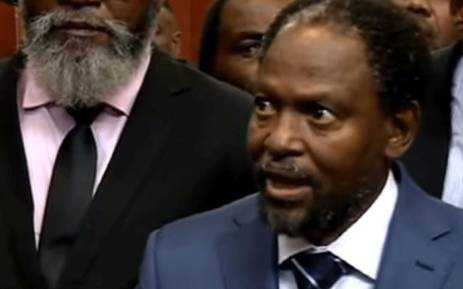 A screengrab shows Vela Shembe. Picture: SABC Digital News/youtube.com