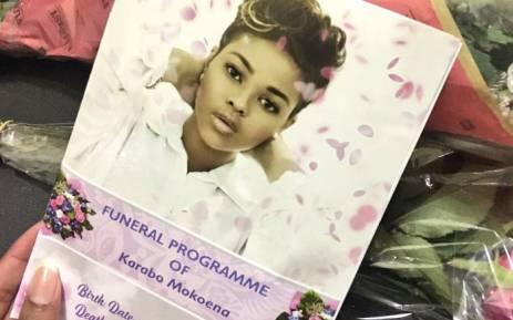 FILE: The funeral service of Karabo Mokoena. Picture: Katleho Sekhoto/EWN.