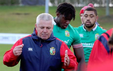 British and Irish Lions coach Warren Gatland. Picture: Twitter/@Lionsofficial