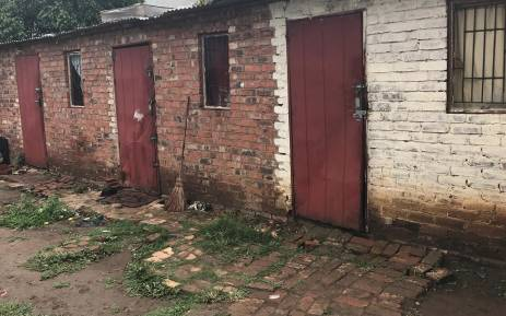 Back rooms of a house in Pretoria West where foreign nationals stay and that were vandalised. Picture: Kgothatso Mogale/EWN