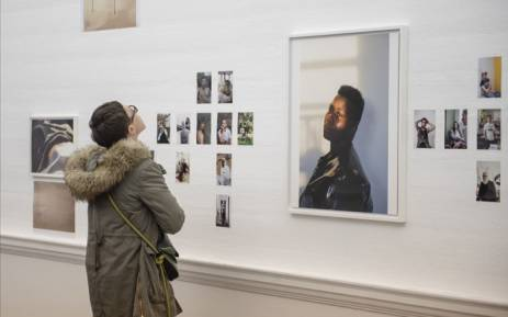 An art lover observes Wolfgang Tillmans's art exhibition 'Fragile' at the Johannesburg Art Gallery. Picture: Goethe-Institut South Africa