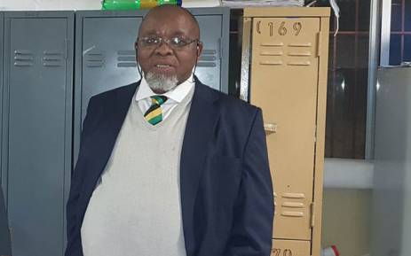 Minerals Resources Minister Gwede Mantashe visits Sibanye-Stillwater's Kloof operations near Westonaria on 12 June 2018 where four miners died. Picture: @DMR_SA/Twitter