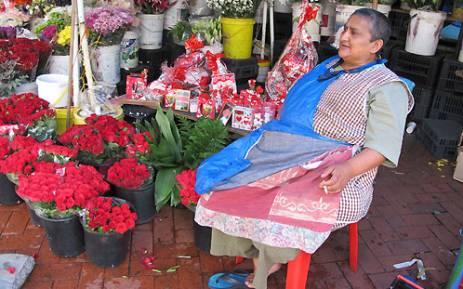 """""""A flower vendor from Adderley Street. Picture: Lauren Isaacs/EWN"""