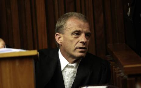 Gerrie Nel, the state prosecutor in Oscar Pistorius's premeditated murder case. Picture: Sapa.