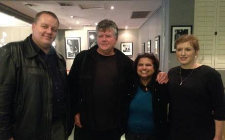 file: From left: Jacques Steenkamp, Foeta Krige, Krivani Pillay and Suna Venter smile after a Labour Court ruling in their favour. Picture: Masego Rahlaga/EWN.