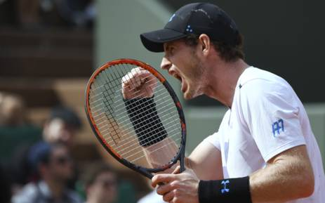 FILE: Britain's Andy Murray celebrates after scoring during his tennis match against Slovakia's Martin Klizan at the Roland Garros 2017 French Open on 1 June 2017 in Paris. Picture: AFP.